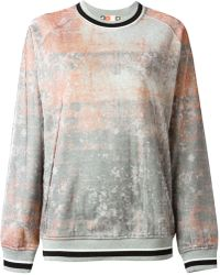 MSGM Pink Tie-dye Sweatshirt - Lyst