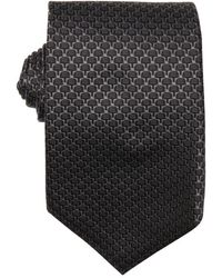 Gucci Grey Tree Pattern Silk Tie - Lyst
