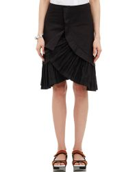 Marni Twill Ruffle Skirt - Lyst