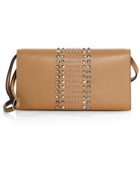 Gucci Broadway Leather Evening Clutch With Stud Detail - Lyst