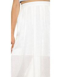 Rebecca Minkoff Piper Skirt Bone - White