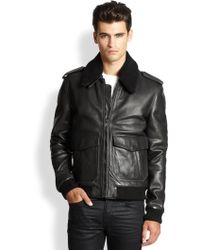 BLK DNM Leather & Shearling Pilot Jacket - Lyst