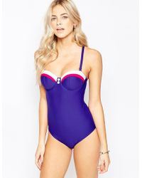Freya | Cup Sized Underwired Bandeau Swimsuit In D-g Cup | Lyst