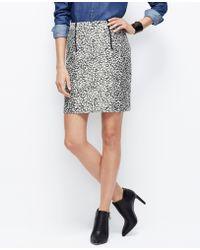 Ann Taylor Tall Leopard Jacquard Skirt - Lyst