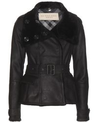 Burberry Brit Craybridge Shearling-lined Leather Jacket - Lyst
