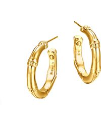 John Hardy Bamboo 18k Gold Small Hoop Earrings - Lyst