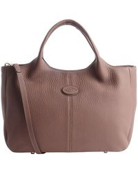 Tod's Pre-owned Brown Leather Convertible Tote - Lyst