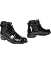 B Store Ankle Boots black - Lyst