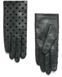 Mango   Polka-Dot Leather Gloves   Lyst