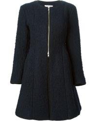 Hache | Flared Textured Overcoat | Lyst
