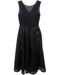 Gianluca Capannolo Sheer Stripe Flared Dress - Lyst