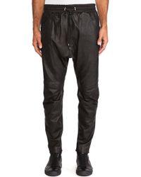 Pierre Balmain Leather Pant - Lyst