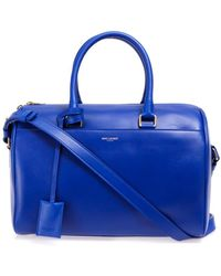 Saint Laurent 6 Hour Leather Duffle Bag - Blue