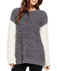 Two By Vince Camuto - Textured Contrast Jumper - Lyst