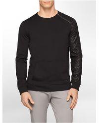 Calvin Klein White Label Ck One Slim Fit Lightweight Print Ponte Knit Sweatshirt - Lyst
