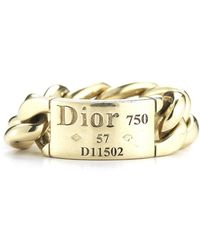 Dior Pre-owned 18ky Chain Ring - Lyst