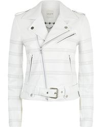 Each x Other Tonal Stripe Leather Jacket - Lyst