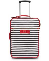 Kate Spade - Striped International Carry On - Rich Navy/cream - Lyst