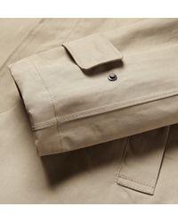 Slowear Montedoro Waterproof Cotton Rain Jacket - Brown