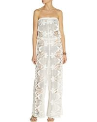 Miguelina Piper Crocheted Cotton-Lace Jumpsuit - White