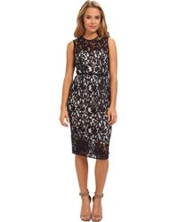 Vince Camuto Sleeveless Illusion Top and Hem Dress with Grosgrain Detail - Lyst