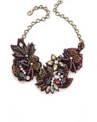 Deepa Gurnani - Flower Sequin and Stone Necklace - Lyst