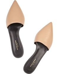 Narciso Rodriguez - Athena Leather Point-Toe Flats - Lyst