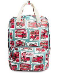 Cath Kidston - Matt Coated Backpack In London Buses Print - Lyst
