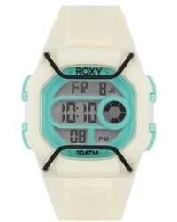 Roxy - 'the Guard' Digital Chronograph Silicone Strap Watch - Lyst