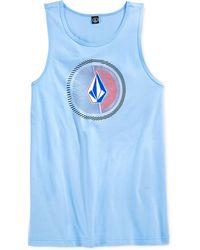 Volcom Overload Logo Tank blue - Lyst