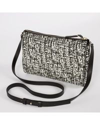 Paul Smith | Etching Print Calf-Leather Pochette | Lyst