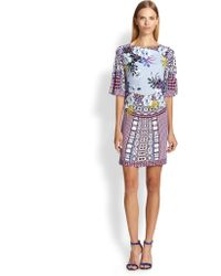 Etro Printed Jersey Tunic Dress - Lyst