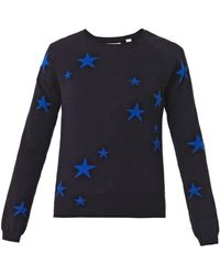 Chinti And Parker Stars Intarsia Cashmere Sweater - Lyst