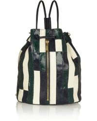 Elizabeth and James - Cynnie Patchwork Snakeeffect Leather Shoulder Bag - Lyst