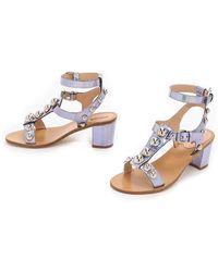 Markus Lupfer - Embellished City Sandals - Hologram Silver - Lyst