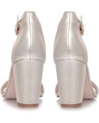 Miss Kg Paige Mid Heel Sandals - Metallic
