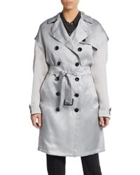 Burberry Brit Dillingford Silk Trenchcoat gray - Lyst