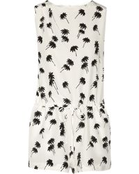 Band of Outsiders Palm Tree Playsuit - Black