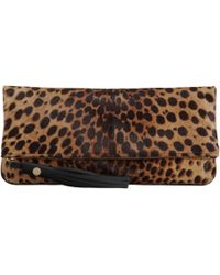 Barneys New York Pony Tassel Clutch animal - Lyst