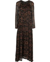 Antik Batik Brown Long Dress - Lyst