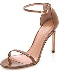 Stuart Weitzman Nudistsong 90Mm Sandals - Tan - Lyst