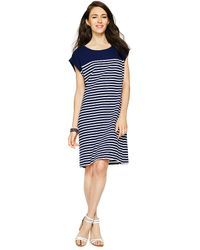C. Wonder Cotton Slub Striped Tee Dress - Lyst