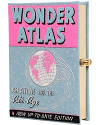 Olympia Le-Tan Wonder Atlas Embroidered Book Clutch - Lyst