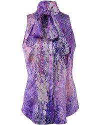 L'Wren Scott | Tie Neck Floral Blouse | Lyst