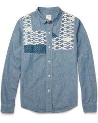 Visvim Granger Patchwork Chambray Shirt - Lyst