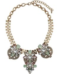 Topshop Green and Lilac Stone Collar  Multi - Lyst