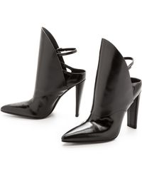 Alexander Wang Lys Leather Booties  Black - Lyst