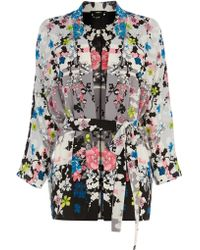 Oasis Oriental Blossom Belted Kimono - Lyst