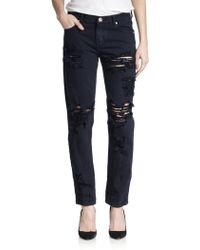 One Teaspoon Awesome Baggies Distressed Straight-Leg Jeans - Lyst