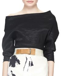 Donna Karan New York Delave Two-Tone Leather Belt - Lyst
